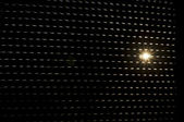подсветка над жалюзи от солнца — Стоковое фото