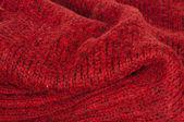 Handgjord stickad röd bakgrund — Stockfoto