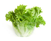 Lettuce in a glass bowl — Stock Photo