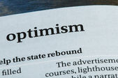 Word Optimism — Stock Photo