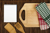 Notebook to write recipes — Stock Photo