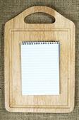 Notebook to write recipes — Stock Photo