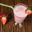Stock Photo: Strawberries milk shake