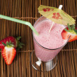 Strawberries milk shake — Stock Photo