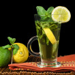 Cup of mint tea — Stock Photo
