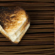 Toast with heart-shaped — Stock Photo