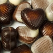Stock Photo: Chocolates in shape of hearts