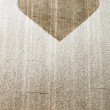 Heart pattern on an old wooden board — Photo