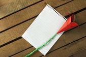 оригами цветок и белой лист — Стоковое фото