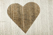 Heart pattern on an old wooden board — Stock Photo