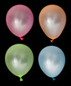 Set of inflated balloons from different colors — Stock Photo