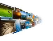 Perspectiva de imagens das profundezas de streaming — Foto Stock
