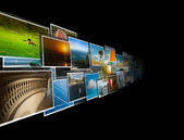 Perspective of images streaming from the deep — Stock Photo