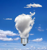 Lamp made of clouds — Stok fotoğraf