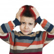 Child have headache - Stock Photo