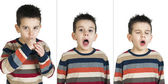 Children who cough — Stock Photo