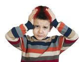 Child have headache — Stock Photo