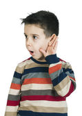 Child listening with ear — Stock Photo