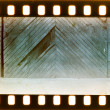 Vintage door and wall on film strip — Stock Photo