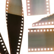 Old vintage film strip.Retro style - Stock Photo