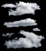 Na białym tle chmury — Zdjęcie stockowe