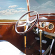Vintage retro car interior — Stock Photo #26224587