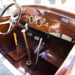 Vintage retro car interior — Stock Photo