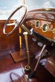 Vintage retro car interior — Stock Photo