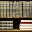 Old books on shelf — Stock Photo #33560321
