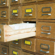Stock Photo: Old archive with drawers