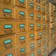 Old archive with drawers — Stock Photo