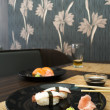 Sushi in sushi bar — Stock Photo