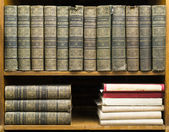 Old books on shelf — Stock Photo