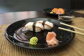 Sushi in sushi bar — Stock Photo