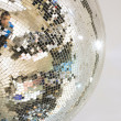 Mirror glass ball — Stock Photo