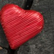 Red wrapped heart — Stock Photo
