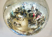 Mirror glass ball — Stock Photo