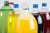 Carbonated drinks in plastic bottles — Stock Photo