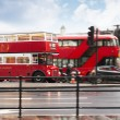 Stock Photo: Red bus in London