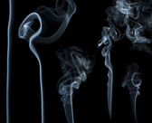 Smoke on black background. — Stock Photo