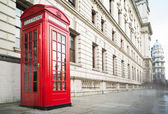 Phone cabine in London — Stock Photo