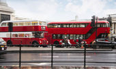 Red bus in London — Stock Photo