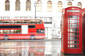 Red Phone cabine in London. — Stock Photo
