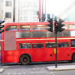 Stock Photo: Red vintage bus in London.