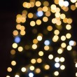 Christmas lights in shopping center — Stock Photo