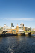 City of London on Thames — Stock fotografie