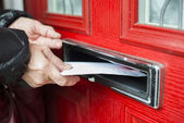 Letter in the mailbox — Stock Photo