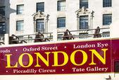 London tour bus — Stock Photo