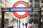 London underground station entrance — Stock Photo