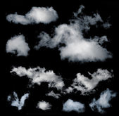Black isolated clouds — Stock Photo